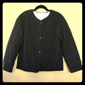 Uniqlo reversible pile-lined jacket black XS
